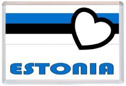 Parnu Love Estonia//Estonian Flag Towns /& Cities Brand New Gift//Present//Souvenir Jumbo Fridge Magnet