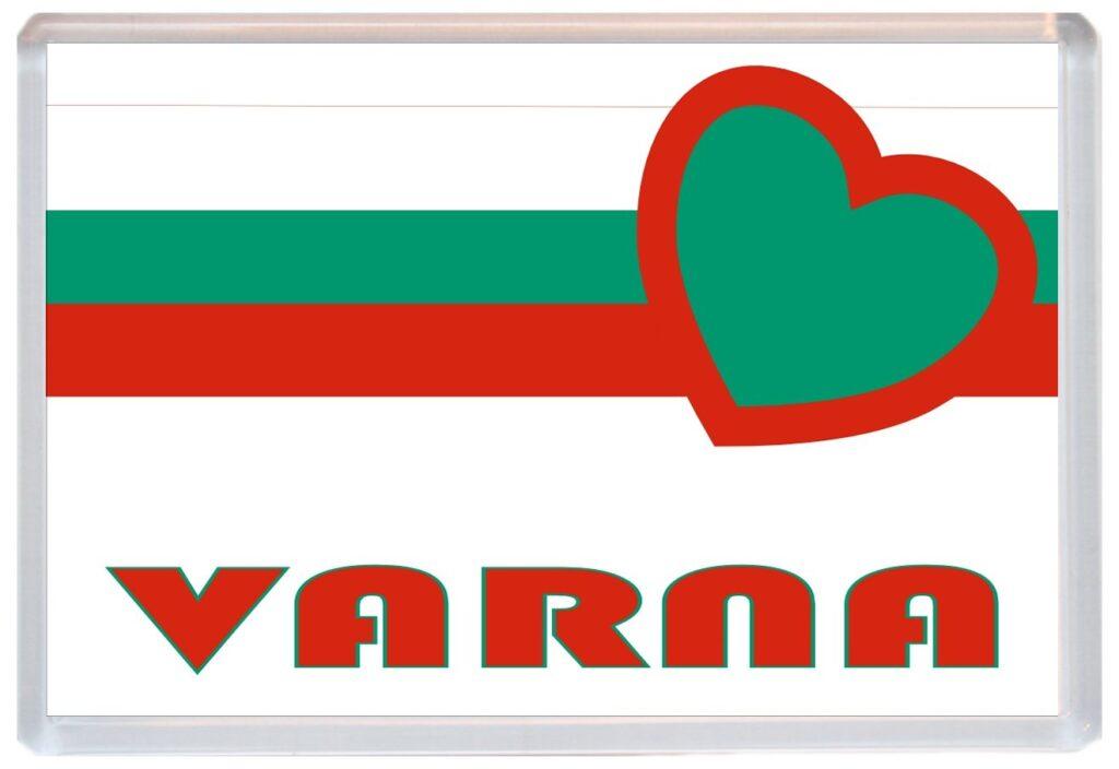 Varna Love Bulgaria Bulgarian Towns Cities Flag Jumbo Fridge